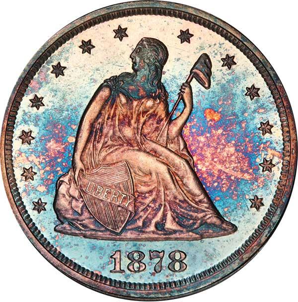 20C 1878 PCGS PR67 CAM
