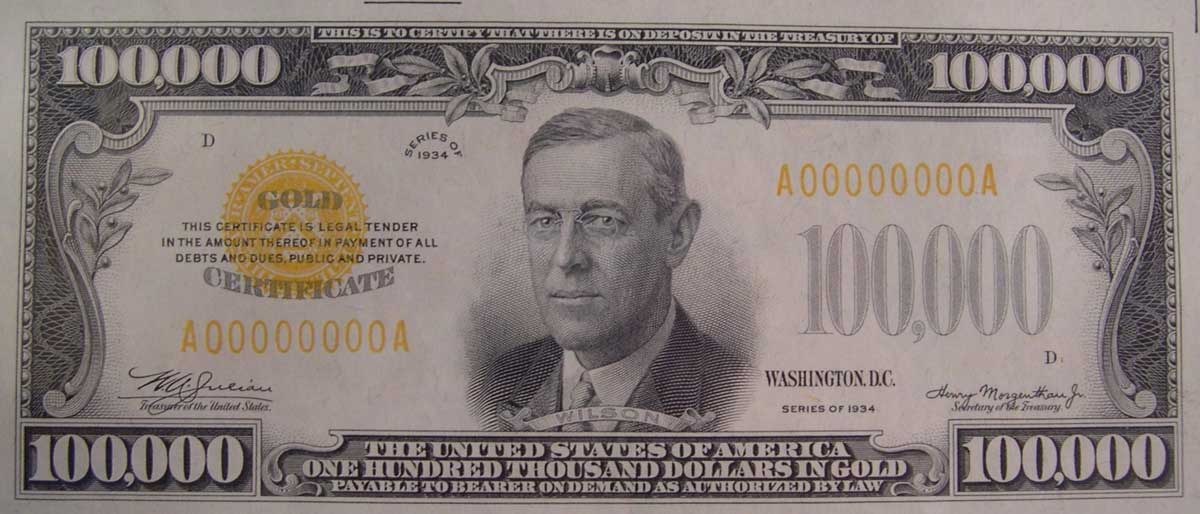 $100,000 Note