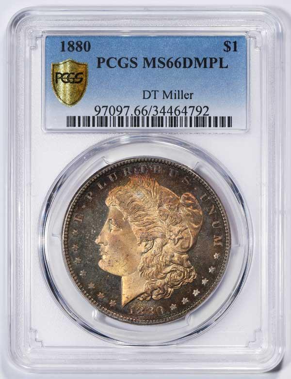 Obverse 1880 Morgan Silver Dollar