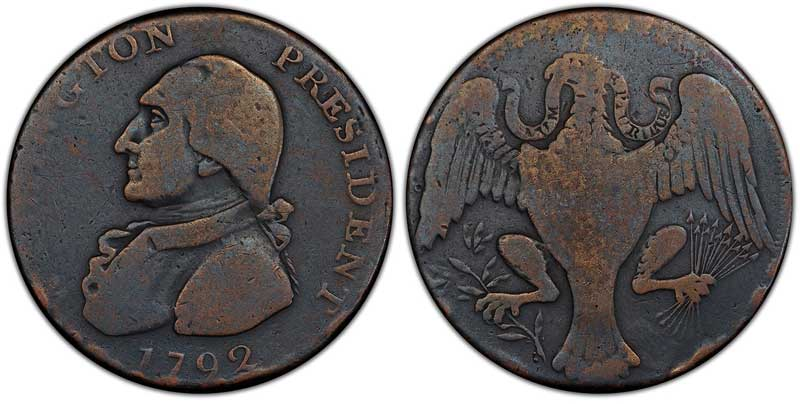 1792 Washington Eagle altered
