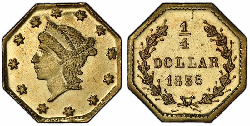 1856 25c BG111 PCGS MS68PL