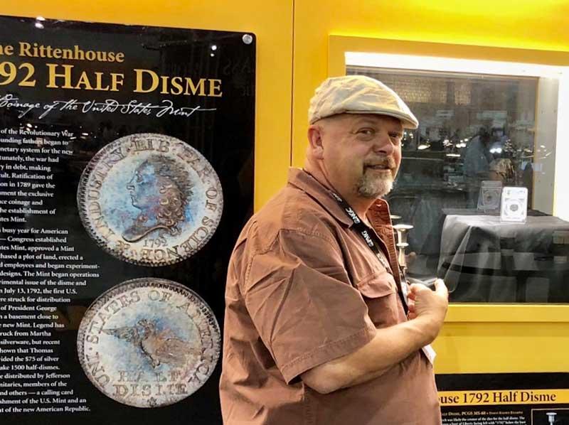 Rick Harrison with Rittenhouse Half Disme