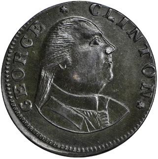 1787 George Clinton copper (MS-62 BN) obverse