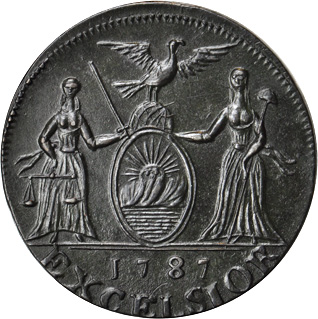 1787 George Clinton copper (MS-62 BN) reverse