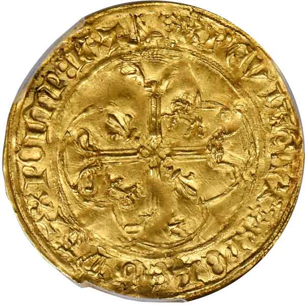 Aquitaine. Cavalier d'Or, ND. Charles (1468-74). reverse