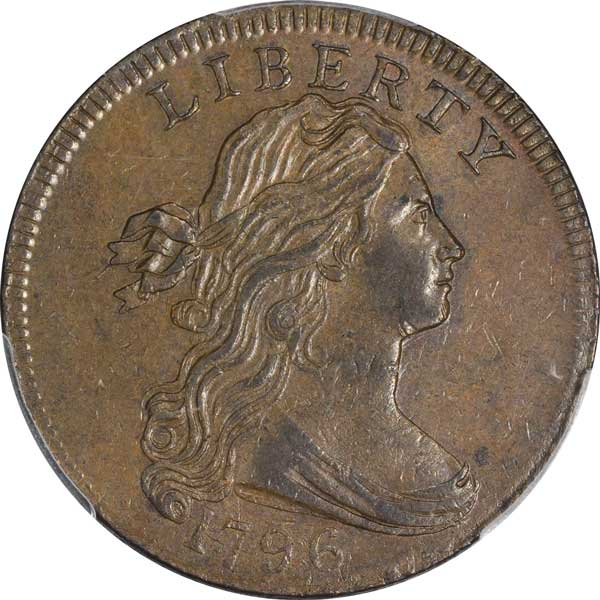 1796 Draped Bust Cent obverse