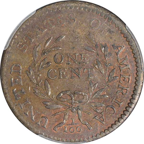 1796 Draped Bust Cent reverse