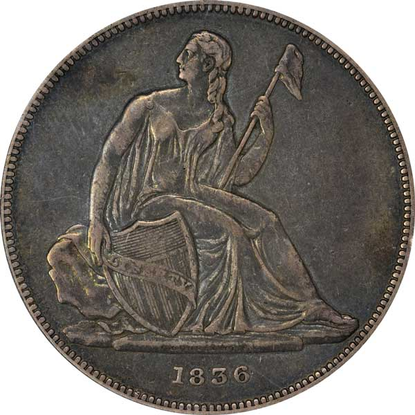 1836 Gobrecht Dollar obverse