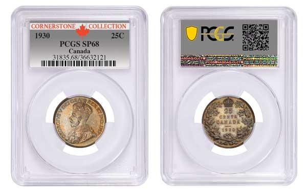 Canada 1930 25C PCGS SP68