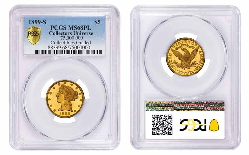 1899-S PCGS MS68PL $5