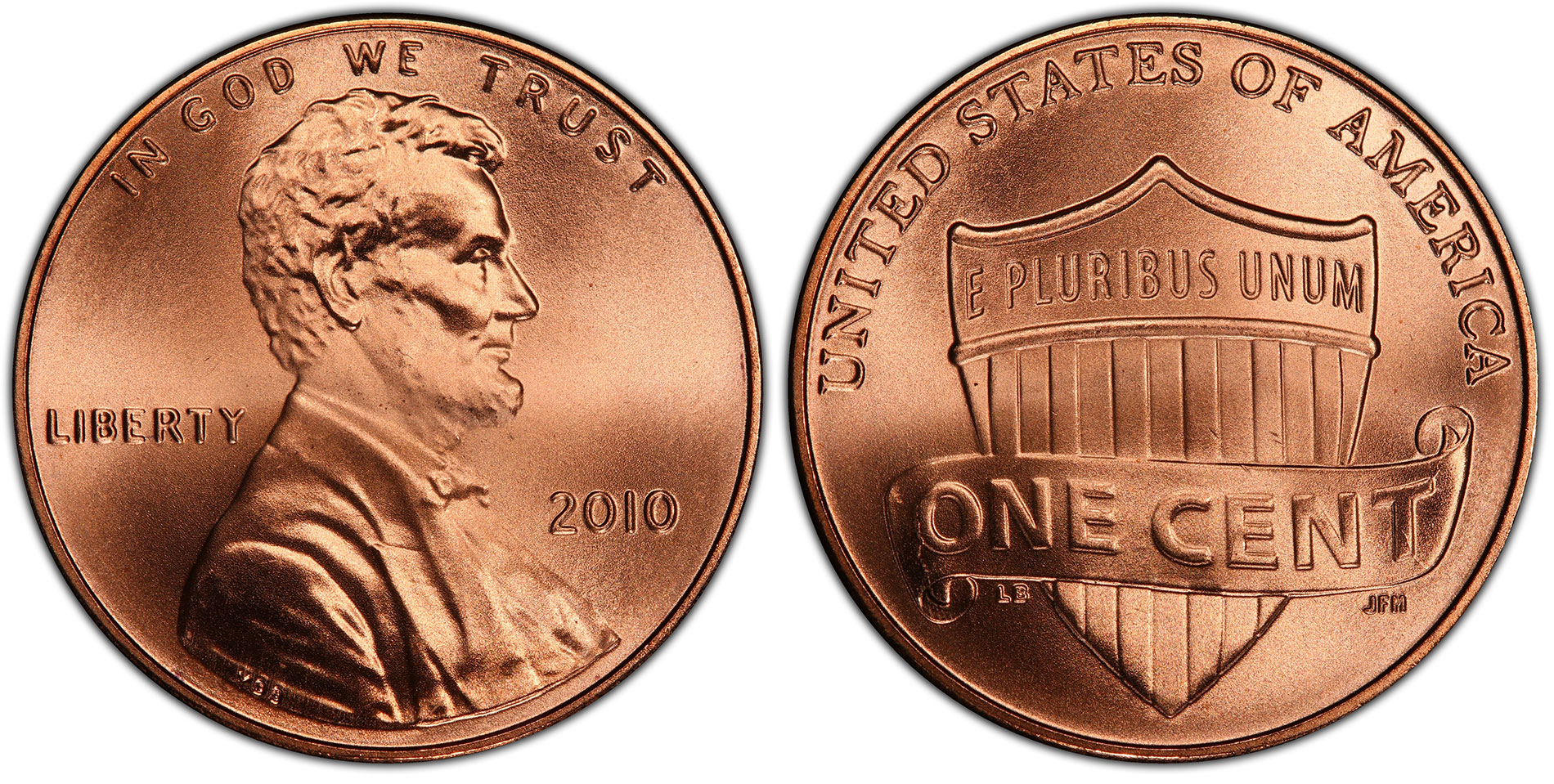 2010 D P Penny Lincoln Shield Uncirculated