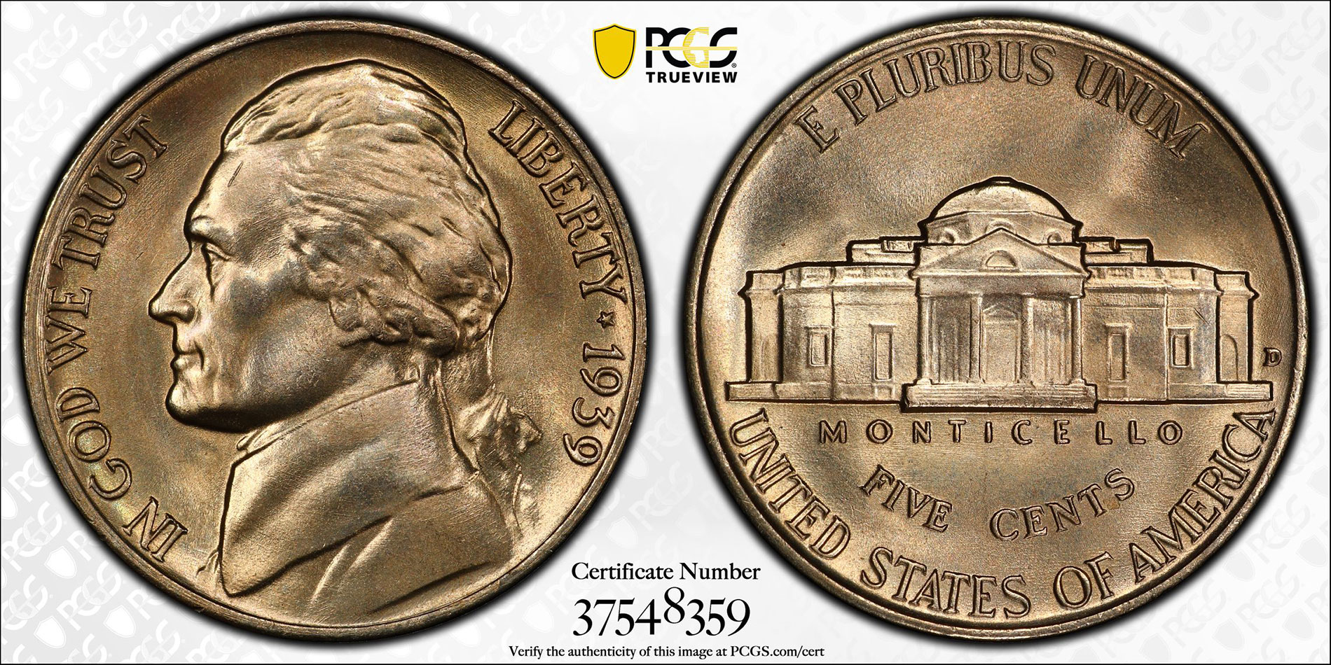 In Near-Gem Uncirculated Condition s Nice Key Date 1950-D Jefferson Nickel