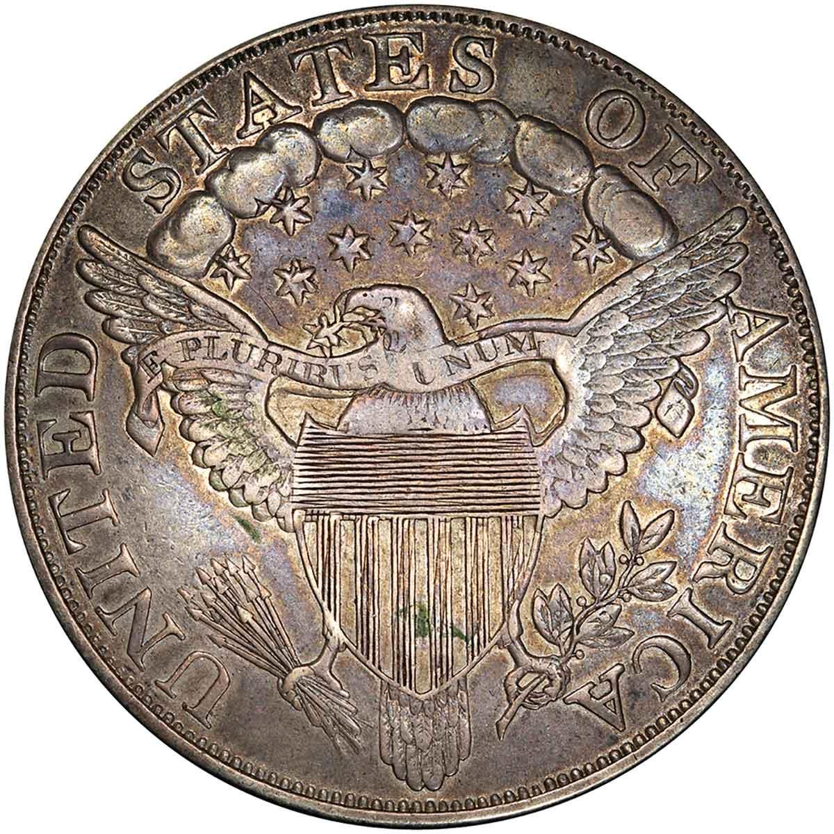 1804 Draped Bust Silver Dollar. Class III Restrike. BB-306. Second Reverse. Proof-55 (PCGS). reverse
