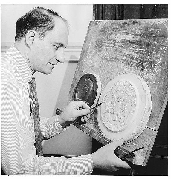 Tenth Chief Engraver and Sculptor of the U.S. Mint Frank Gasparro. Public Domain.