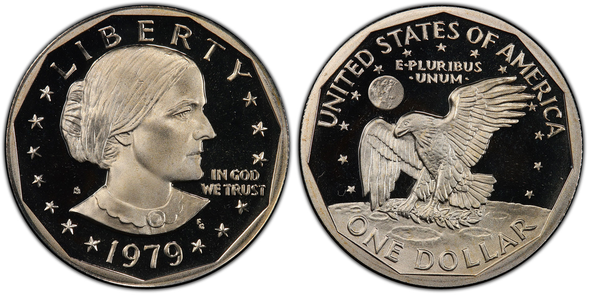 1979 1980 1981 S Susan B Anthony Proof Dollar Run Clad US 3 Coins Complete Set