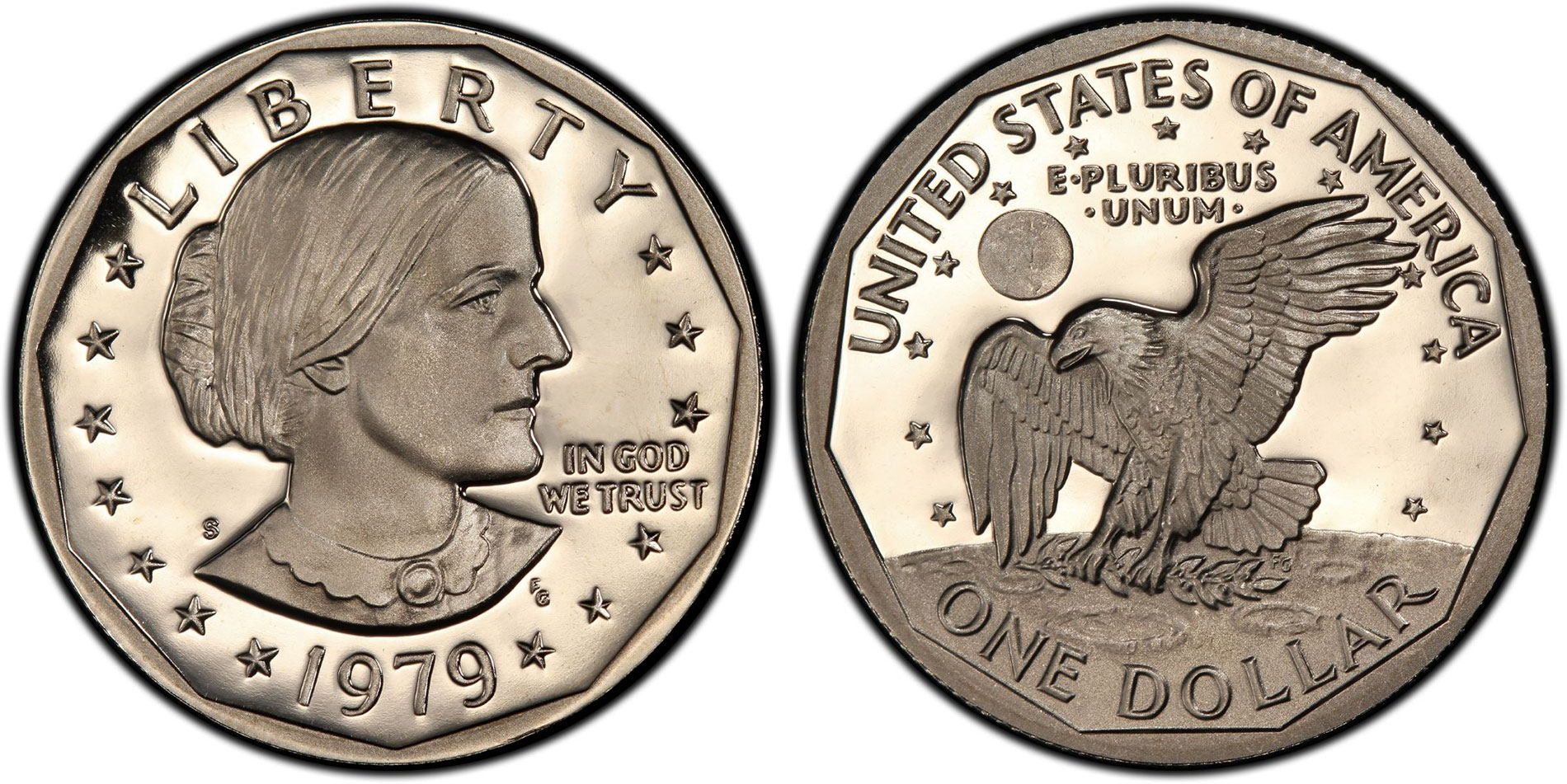 1979-S US CAMEO PROOF SUSAN B ANTHONY DOLLAR FROM US PROOF SET