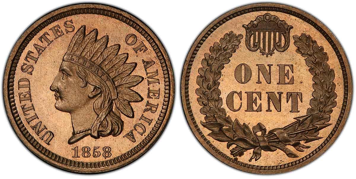 1858 Pattern Cent