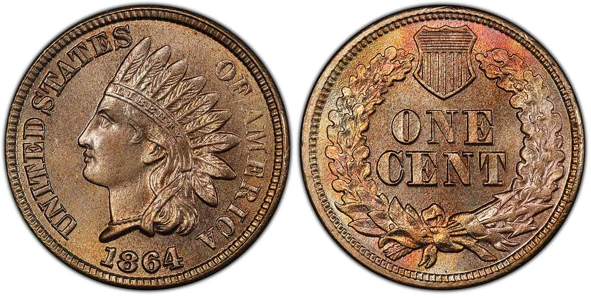 1860-1864 Indian Cent, Shield Reverse