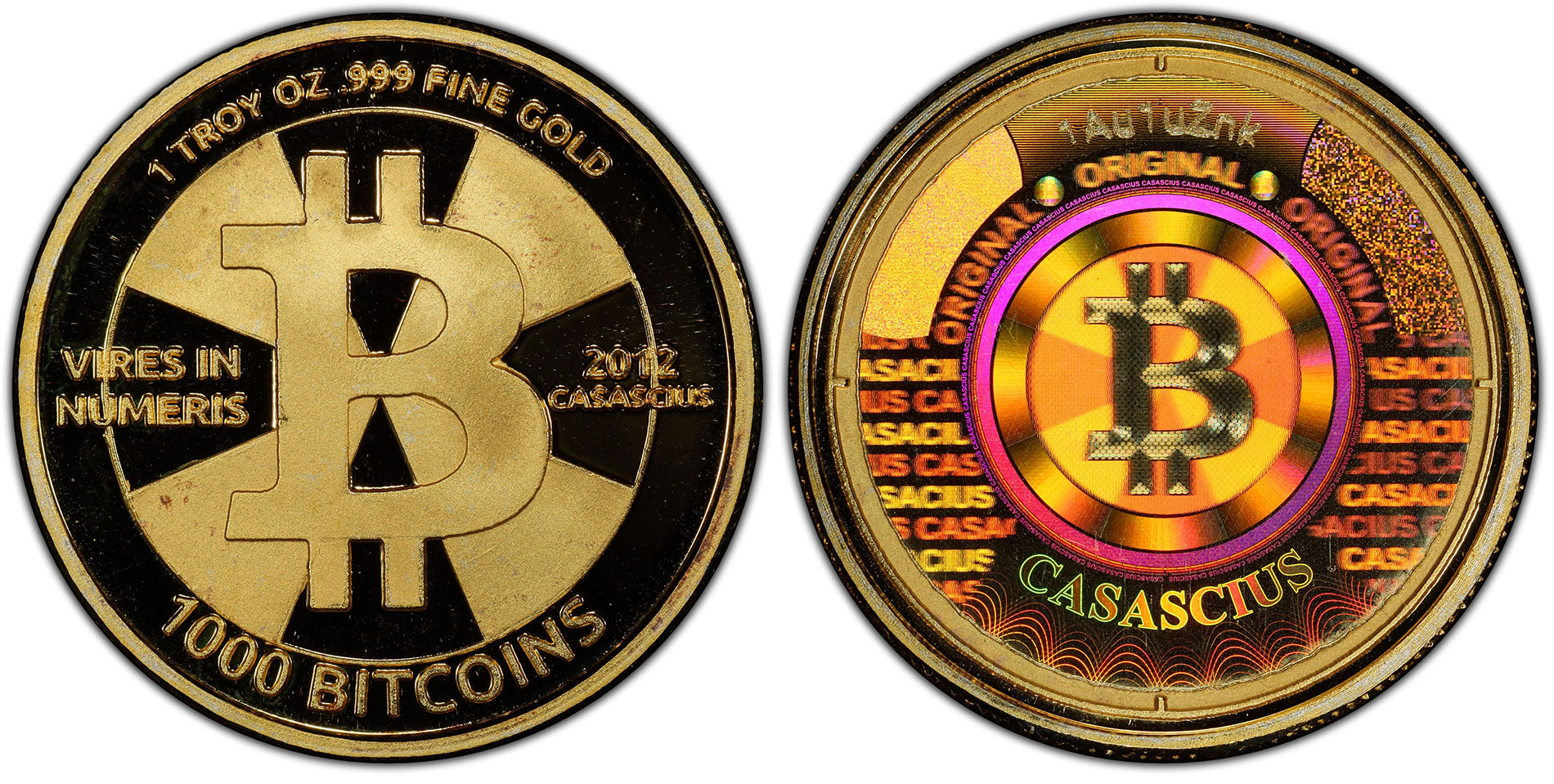 World's Most Valuable Numismatic Item, $48 Million Gold 1,000 Bitcoin Physical Coin, Submitted by GreatCollections to PCGS