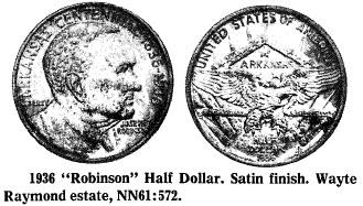 """1936 """"Robinson"""" Half Dollar"""