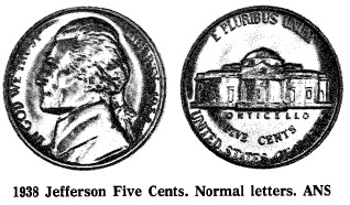 1938 Jefferson Five Cents