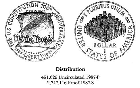 1987 Constitution Bicentennial $1