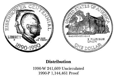 1990 Eisenhower Centennial $1