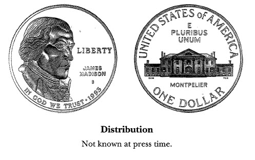 1993 James Madison/Bill of Rights $1
