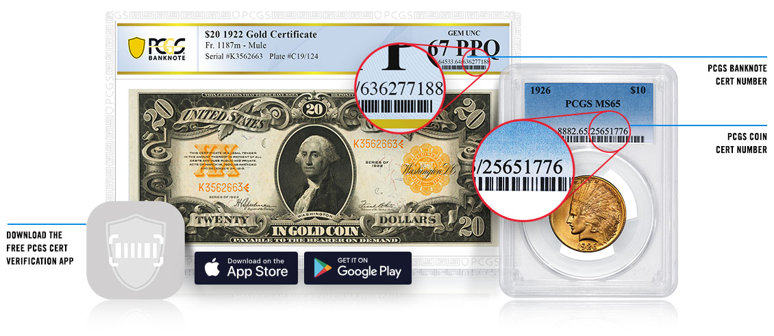 Find your PCGS Cert Number