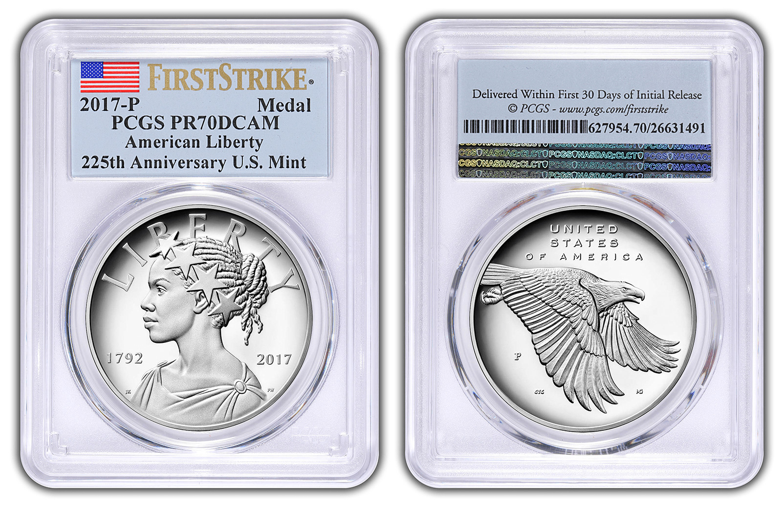 2016-S American Liberty Silver Medal PCGS PR70DCAM FIRST STRIKE