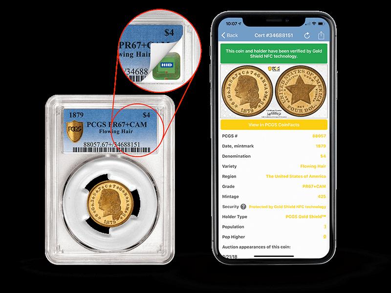 PCGS Gold Shield NFC Technology