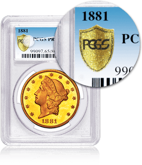 PCGS Anti-Counterfeit Gold Shield