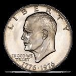 1976 No S Proof Eisenhower Dollar, Type 2