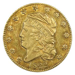 1822 $5 Gold Piece