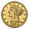 1854-S $5 Liberty