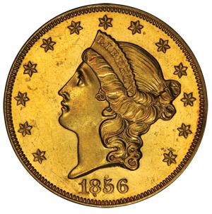 1856-O $20 Liberty Gold Piece