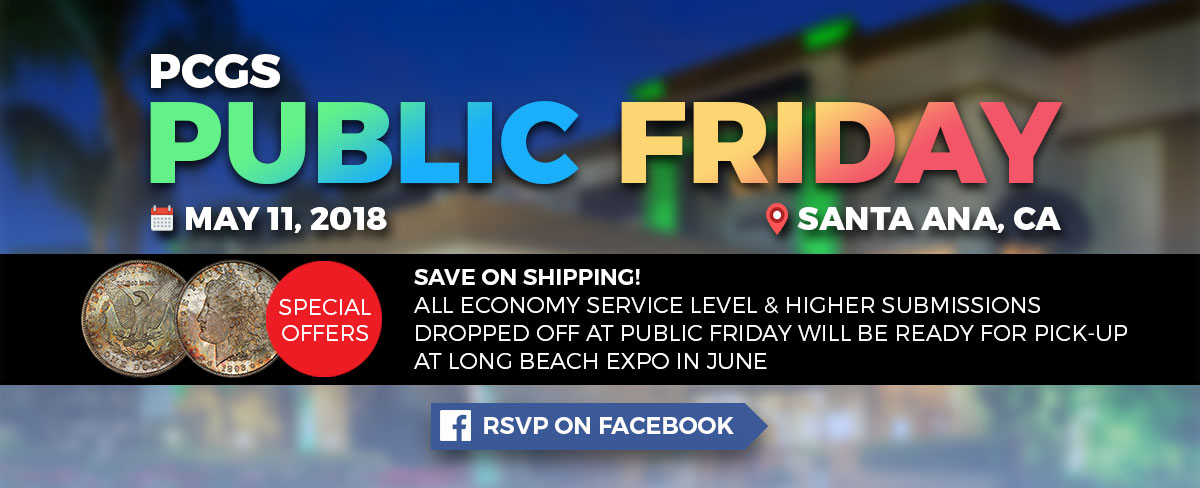 RSVP for PCGS Public Friday on Facebook