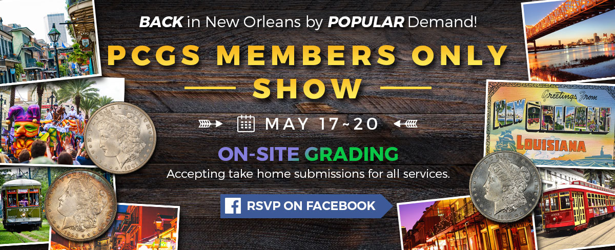 RSVP for PCGS Members Only Show on Facebook