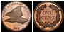 1856 Flying Eagle cents